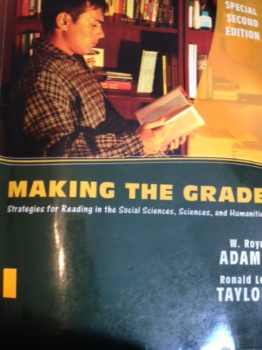 9780547122670: Making the Grade: Strategies for Reading in the Social Sciences, Sciences and Humanities
