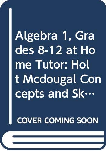 9780547123868: Algebra 1: Concepts and Skills: @Home Tutor