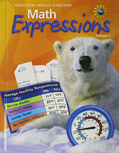 9780547125039: Math Expressions: Student Activity Book Hardcover Level 4 Volume 2 2009
