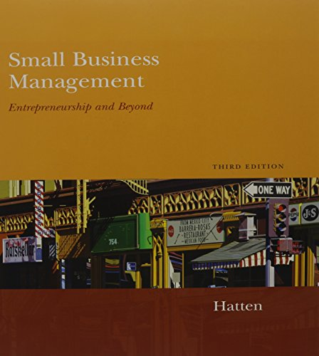 9780547125305: Hatten Small Business Management With Go Venturesimulation Cd Third Edition Plus Menager Plagiarism