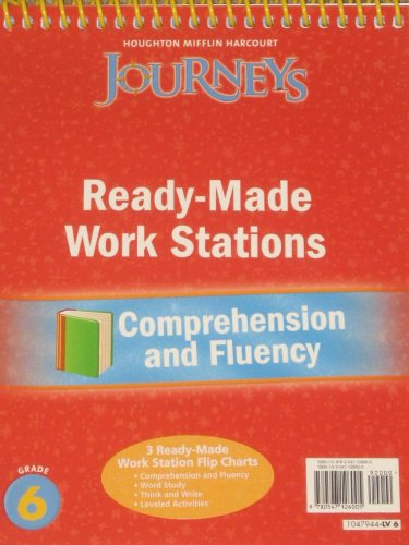 9780547126005: Journeys: Ready-Made Reading and Fluency Flip Chart Grade 6