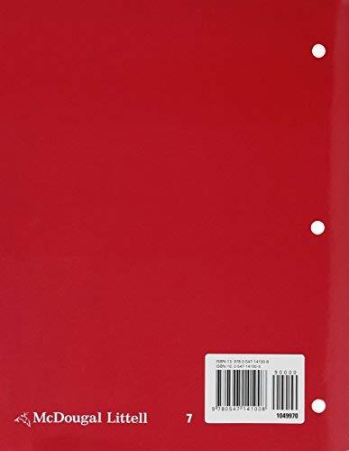 9780547141008: McDougal Littell Literature: Grammar for Writing Workbook Grade 07