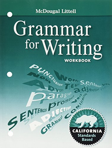 9780547141138: McDougal Littell Literature California: Grammar for Writing Workbook Grade 8