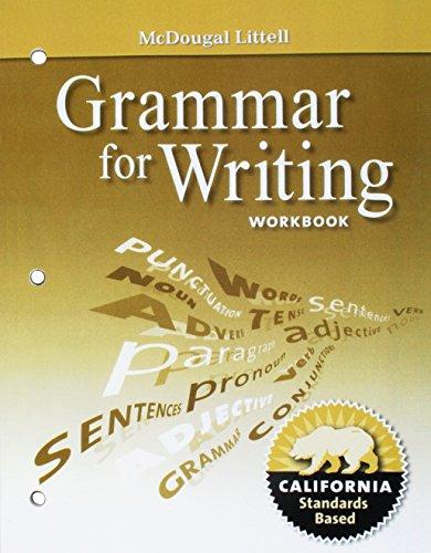 grammar for writing workbook