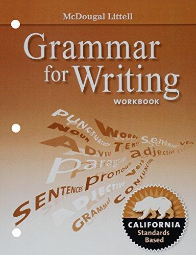 9780547141244: McDougal Littell Literature California: Grammar for Writing Workbook Grade 09