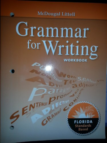 9780547141275: McDougal Littell Literature Florida: Grammar for Writing Workbook Grade 09