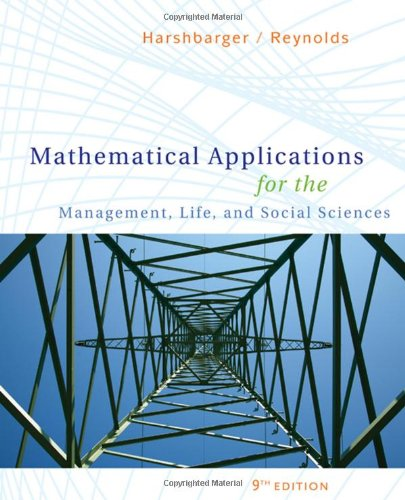 9780547145099: Mathematical Applications for the Management, Life, and Social Sciences (Available 2010 Titles Enhanced Web Assign)