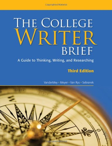 9780547147802: The College Writer: A Guide to Thinking, Writing, and Researching, Brief