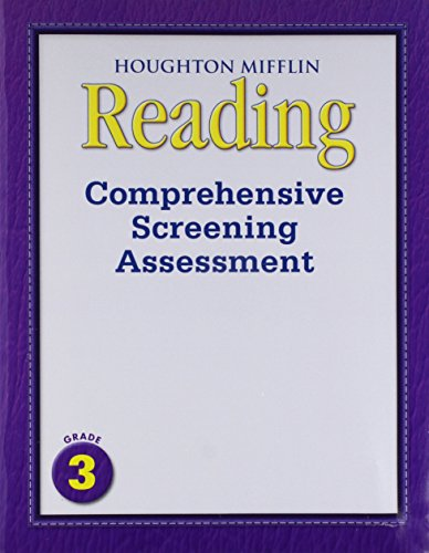 9780547153155: Journeys: Comprehensive Screening Assessment Grade 3