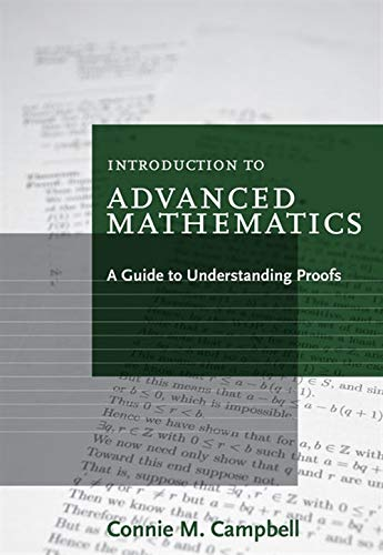 9780547165387: Introduction to Advanced Mathematics: A Guide to Understanding Proofs