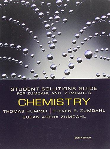 "9780547168562: Chemistry Student Solutions Guide for Zumdahl & Zumdahl""s Chemistry"