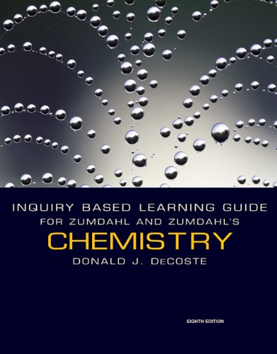 9780547168715: Inquiry Based Learning Guide for Zumdahl/Zumdahl's Chemistry, 8th