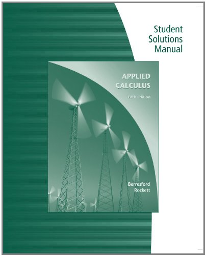 9780547169897: Student Solutions Manual for Berresford's Applied Calculus, 5th