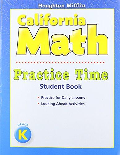9780547173504: Houghton Mifflin Mathmatics California: Practice Book Level K