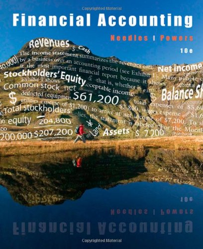 Financial Accounting (Available Titles CengageNOW) (0547193289) by Belverd E. Needles; Marian Powers