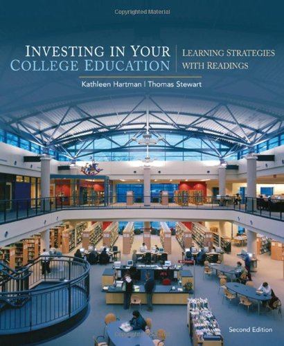 9780547199856: Investing in Your College Education: Learning Strategies with Readings