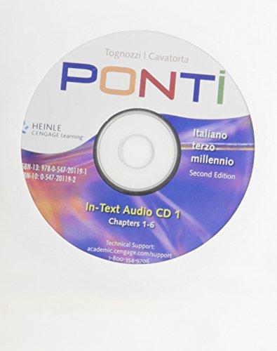 9780547201191: In-Text Audio CD for Tognozzi/Cavatorta's Ponti: Italiano terzo millennio, 2nd