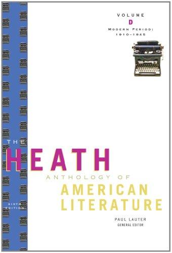 9780547201948: The Heath Anthology of American Literature: Modern Period (1910-1945), Volume D (Heath Anthologies)