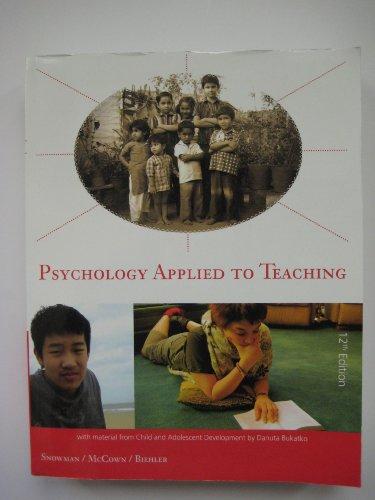 Psychology Applied to Teaching: Snowman McCown Biehler