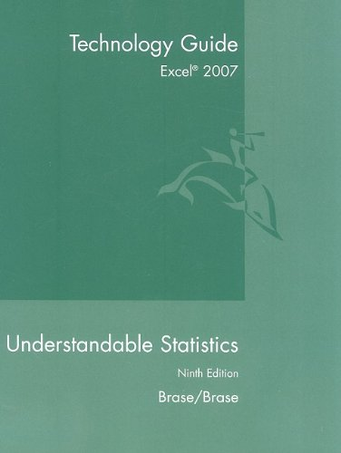 9780547212975: Excel 2007 Tech Guide for Brase/Brase's Understandable Statistics: Concepts and Methods