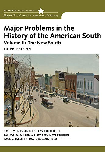 9780547228334: Major Problems in the History of the American South, Volume 2 (Major Problems in American History Series)