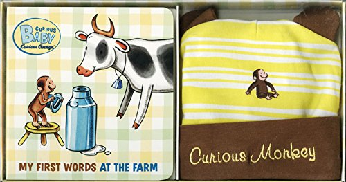 Curious Baby My First Words at the Farm Gift Set (Curious George Book & Hat) (Curious Baby ...