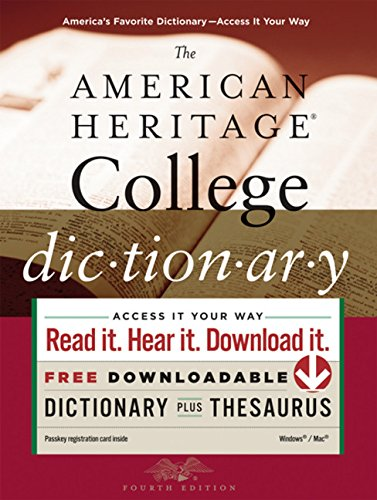 The American Heritage College Dictionary, Fourth Edition (0547247664) by Paul Hellweg