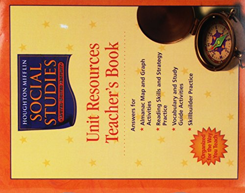 9780547248943: Houghton Mifflin Social Studies: Unit Resources Folders with Teacher's Annotated Edition Grade 5 US History