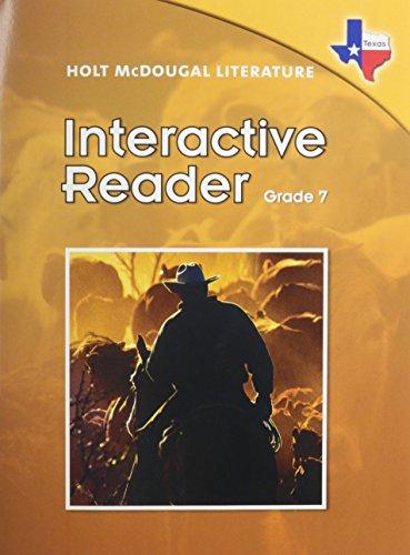 9780547271408: Holt McDougal Literature Texas: Interactive Reader Grade 7
