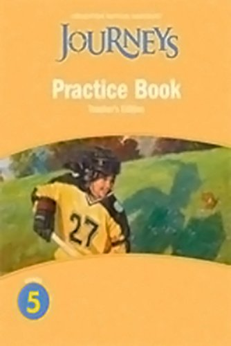 9780547271958: Journeys: Practice Book Teacher Annotated Edition Grade 5