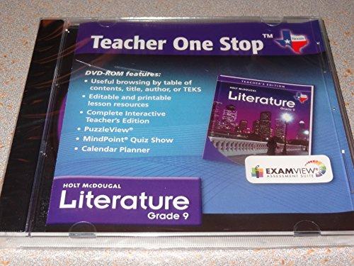 9780547280172: Holt McDougal Literature Texas: Teacher One Stop DVD-ROM Grade 9