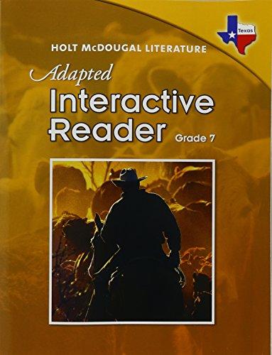 9780547280356: Literature, Grade 7 Adapted Interactive Reader: Holt Mcdougal Literature Texas