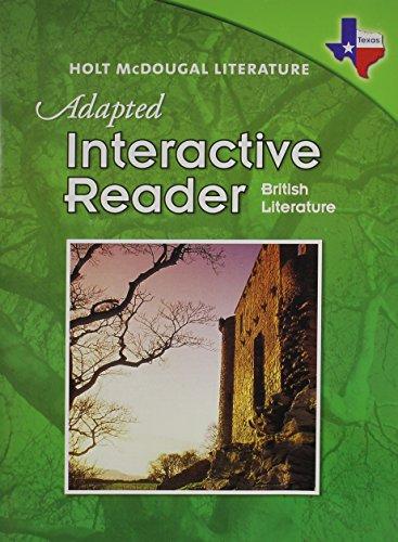 9780547280455: Holt McDougal Literature Texas: Adapted Interactive Reader British Literature