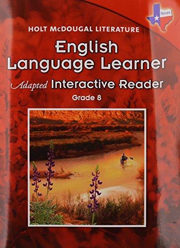 9780547282169: Holt McDougal Literature: English Language Learner Adapted Interactive Reader Grade 8