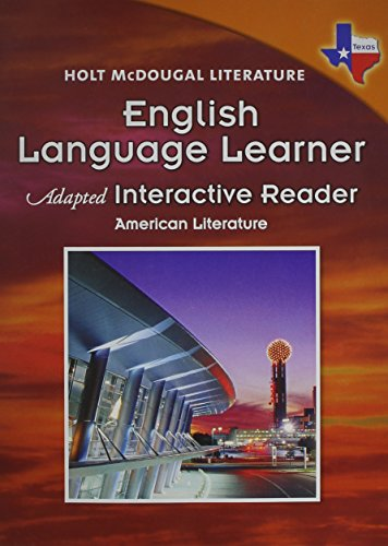 9780547282282: Holt McDougal Literature: English Language Learner Adapted Interactive Reader American Literature