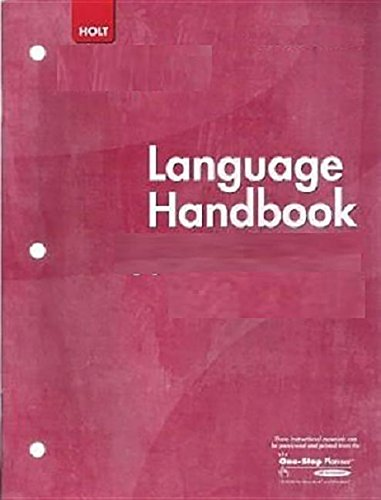 9780547284934: Literature, Grade 8 Language Handbook: Holt Mcdougal Literature Texas