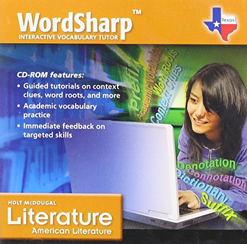 9780547288512: Holt McDougal Literature Texas: WordSharp Vocabulary Tutor CD-ROM American Literature