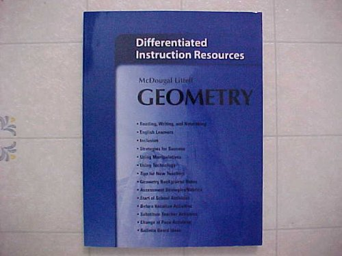 9780547313993: Holt McDougal Larson Geometry: Differentiated Instruction Resources