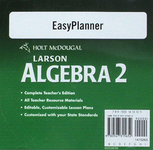 9780547315652: Holt McDougal Larson Algebra 2: Easy Planner DVD-ROM