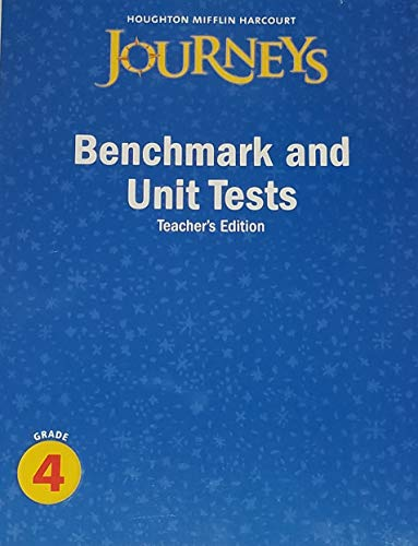 9780547318769: Journeys: Benchmark and Unit Tests Teacher's Edition Grade 4
