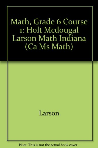 9780547331638: McDougal Littell Math Course 1 Indiana: Student Edition Course 1 2011