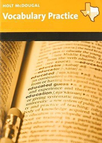 9780547341477: McDougal Littell Literature: Vocabulary Practice Workbook Grade 10