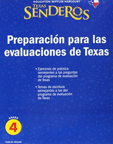 9780547341859: Texas Senderos: Preparacion para las evaluaciones de Texas, Grado 4. Copia de consumo. (HMR Spanish Reading 2009) (Houghton Mifflin Harcourt Senderos) (Spanish Edition)
