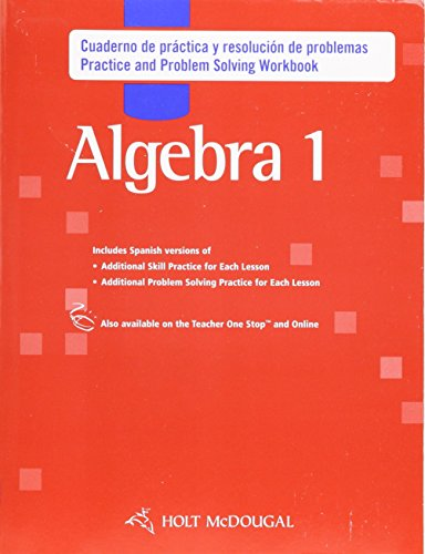 9780547353616: Holt McDougal Algebra 1, Spanish: Practice and Problem Solving Workbook (Spanish Edition)