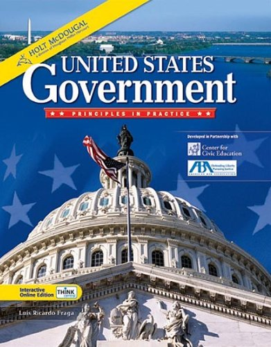 9780547360805: Holt McDougal United States Government: Principles in Practice: Homeschool Package
