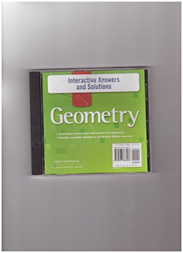 Geometry- Interactive Answers and Solutions: Holt McDougal