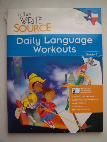 9780547395487: Texas Write Source ~ Daily Language Workouts (Grade 5)