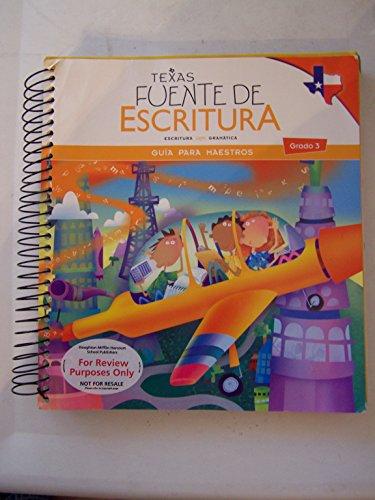9780547427058: Great Source Write Source Spanish Texas: Teacher's Edition Grade 3 2012 (Spanish Edition)