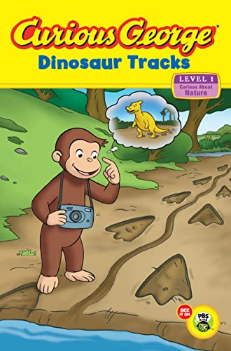 9780547438887: Curious George: Dinosaur Tracks: Curious about Nature (Curious George Early Readers)
