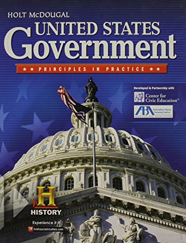 United States Government: Principles in Practice: MCDOUGAL, HOLT